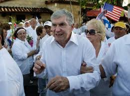 Carriles marches for the Ladies in White in Miami