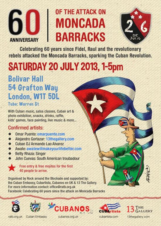 Cuban cultural party, 20 July