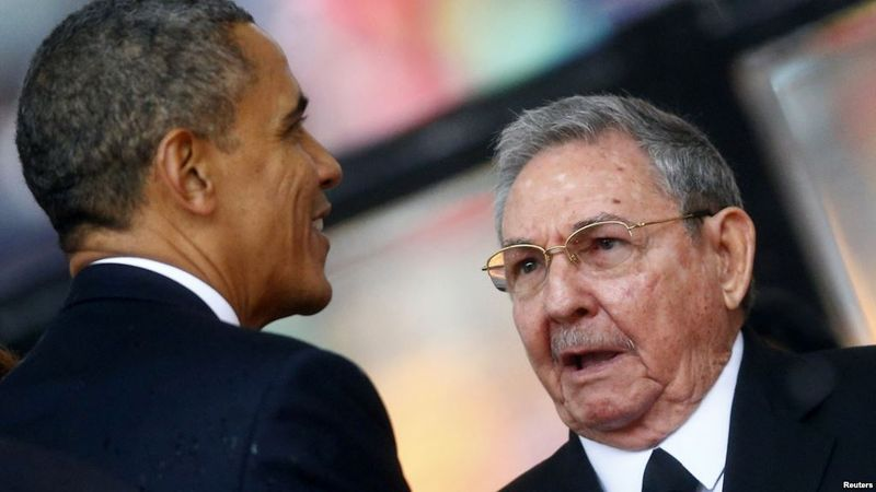Obama and Raul 2013